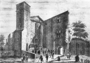 Vieux Dessin Abbaye de Pébrac